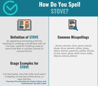 Correct spelling for stove