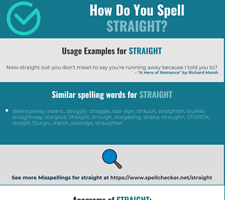 Correct spelling for straight