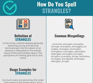 Correct spelling for strangles