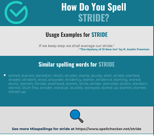 Correct spelling for stride