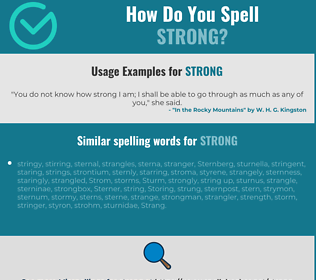 Correct spelling for strong
