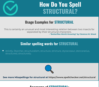 Correct spelling for structural
