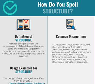 Correct spelling for structure