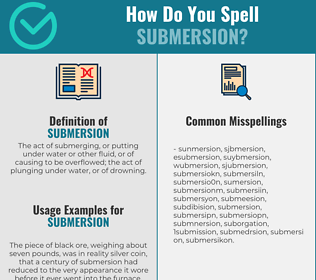 Correct spelling for submersion