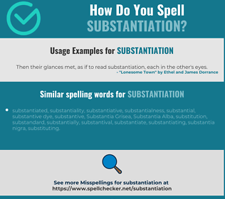 Correct spelling for substantiation