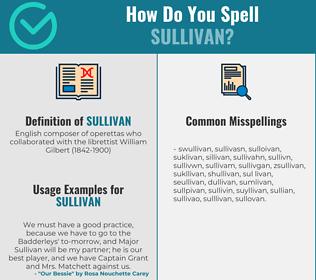 Correct spelling for sullivan