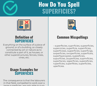 Correct spelling for superficies