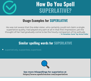 Correct spelling for superlative