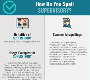 Correct spelling for supervisory