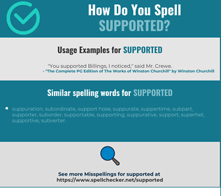 Correct spelling for supported