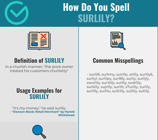 Correct spelling for surlily