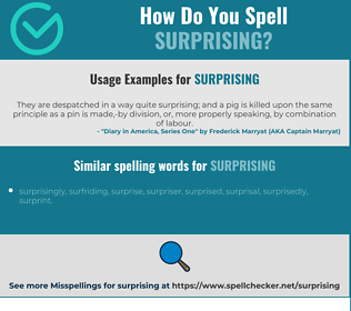 Correct spelling for surprising