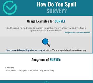Correct spelling for survey