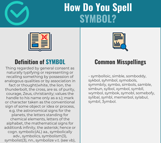 Correct spelling for symbol