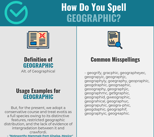 Correct spelling for geographic