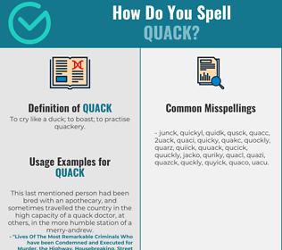 Correct spelling for quack