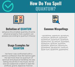 Correct spelling for quantum