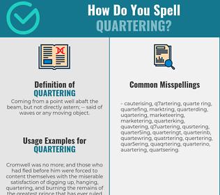 Correct spelling for quartering