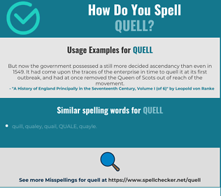 Correct spelling for quell