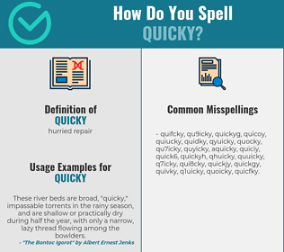 Correct spelling for quicky
