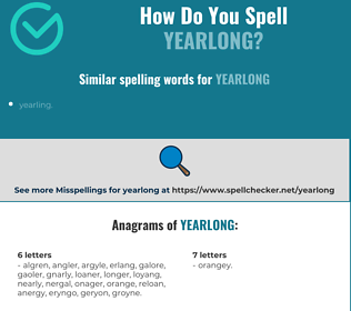 Correct spelling for yearlong
