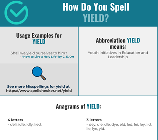Correct spelling for yield