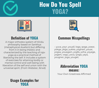 Correct spelling for yoga
