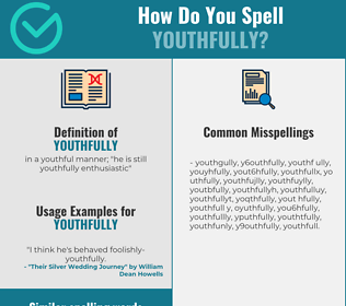 Correct spelling for youthfully