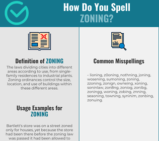 Correct spelling for zoning