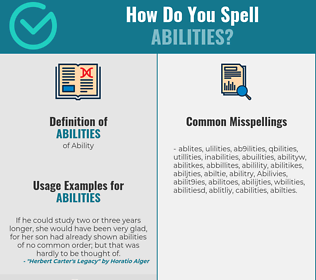 Correct spelling for Abilities