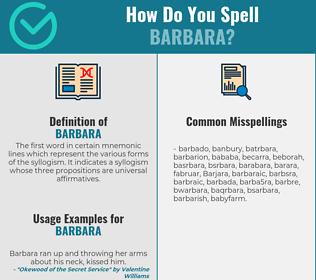 Correct spelling for Barbara