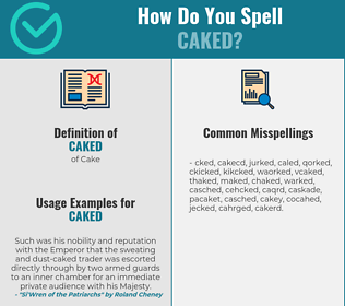 Correct spelling for Caked