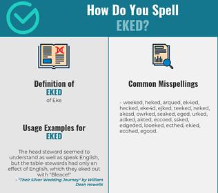 Correct spelling for Eked