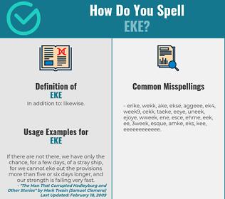 Correct spelling for Eke