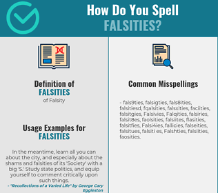 Correct spelling for Falsities