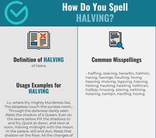 Correct spelling for Halving