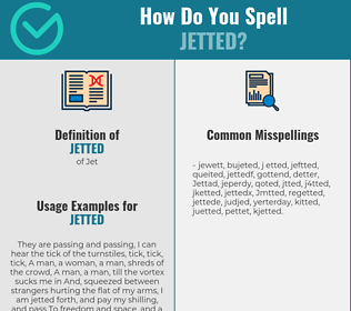 Correct spelling for Jetted
