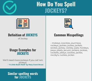 Correct spelling for Jockeys