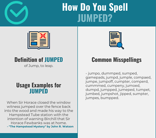 Correct spelling for Jumped