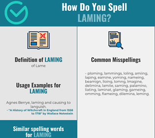 Correct spelling for Laming