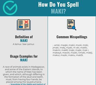 Correct spelling for Maki