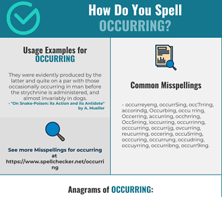 Correct spelling for Occurring
