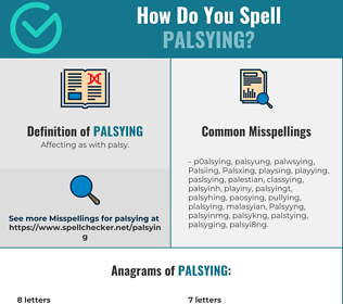 Correct spelling for Palsying
