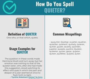 Correct spelling for Quieter