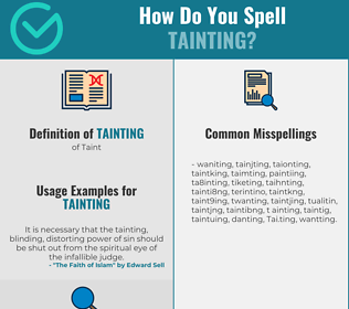 Correct spelling for Tainting