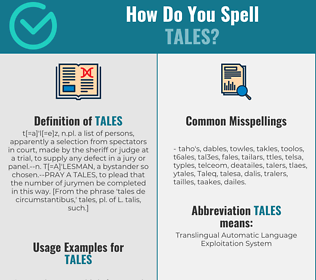 Correct spelling for Tales