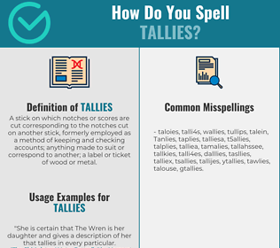 Correct spelling for Tallies