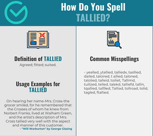 Correct spelling for Tallied