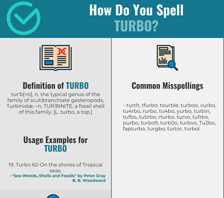 Correct spelling for Turbo