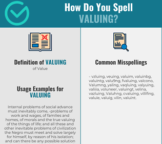 Correct spelling for Valuing